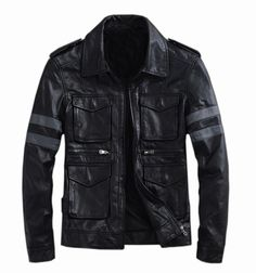 Resident Evil classic explosion THOOO Gentlemen PU Leather Jacket Coat