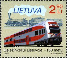 Sobre Filatelia y Ferrocarriles: EJ575 (Lituania, 2009)