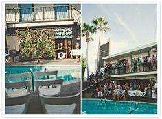The Pearl Hotel poolside wedding ceremony