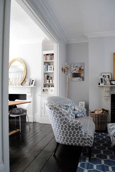Apartment Therapy: Katharine & James' Glamorous Family Home in London — House Tour Interior Desing, Home Interior, Interior Inspiration, Luxury Interior, Home Living Room, Living Spaces, Living Area, Farrow And Ball Living Room, Family Room