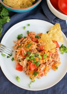 Mexican Chicken Casserole is the perfect quick meal for your family! This casserole is made with shredded chicken, beans, rice, salsa, diced tomatoes and shredded cheese. It is baked to perfection in under 30 minutes and also makes great leftovers! Mexican Chicken And Rice, Mexican Chicken Casserole, Sausage And Bean Casserole, Casserole Dishes, Casserole Ideas, Mexican Food Recipes, Ethnic Recipes, Mexican Dinners, Easy Homemade Salsa