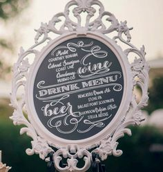 Hand Drawn Chalkboard  // Wedding Sign // by LauraStewartDesign