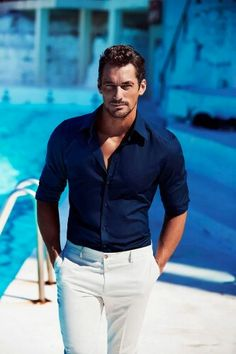 David Gandy for @dolcegabbana #DGLightBlue | via GrittyPrettyEd