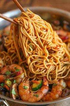 noodles camarones