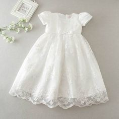 gelvs Baby Girl Christening Dress Delicate Long Robe Gown for First Communion Formal Party Girls Christening Dress, Baby Girl Baptism, Baptism Gown, Baby Girls, Baby Girl White Dress, Baby Girl Dresses, Girl Outfits, Baby Blessing Dress, Special Occasion Dresses