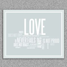 Love is patient, love is kind: Corinthians