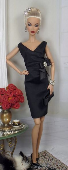 Classic Little Black Dress for Silkstone Barbie and Victoire Roux on Etsy now