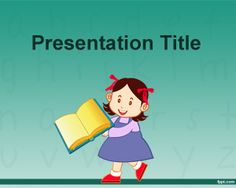 Free learning to read PowerPoint template background for elementary school