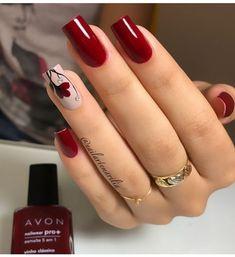 Semi-permanent varnish, false nails, patches: which manicure to choose? - My Nails Red Nail Art, Pretty Nail Art, Red Nails, Swag Nails, Grunge Nails, Fall Nail Art Designs, Acrylic Nail Designs, Elegant Nails, Stylish Nails