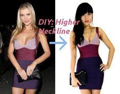higher neckline alteration for dress