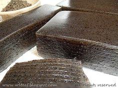 gluten free . Steamed Black Sesame Kuih