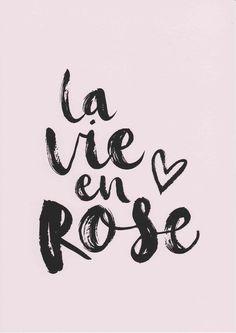 La Vie En Rose Print französischen Drucke Mädchen Zimmer Dekor