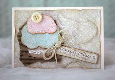Handmade shabby chic card with a cupcake - pastellipäivä Cupcake, Shabby Chic, Frame, Cards, Handmade, Home Decor, Chic, Homemade Home Decor, Hand Made