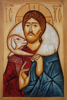 The Good Shepherd - religious icon