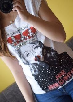 Kup mój przedmiot na #vintedpl http://www.vinted.pl/damska-odziez/koszulki-z-krotkim-rekawem-t-shirty/13743018-madonna-style-koszulka-blyszczaca-cekiny-m