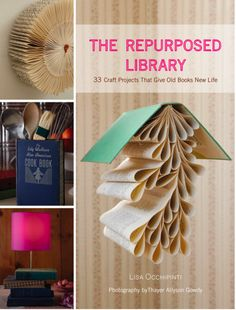 this is a book, but i love the idea of making art or household objects out of other books