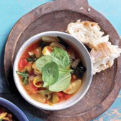 Good Greens Winter Soup Make a warm meal on a cold winter night with kale, leeks, tomatoes, and zucchini.