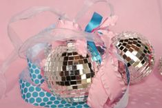 Disco Ball Ornaments as Decorations