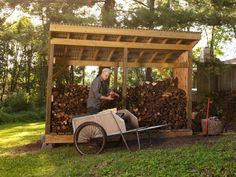 How to Build a Firewood Shed - Keep your stack of firewood from getting damp by building this simple enclosure.