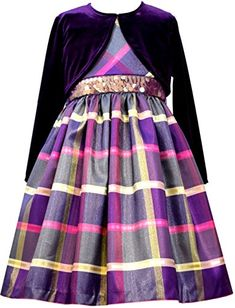 Bonnie Jean Big Girls Purple Plaid Taffeta Cardigan Dress 12 Bonnie Jean http://www.amazon.com/dp/B016APYE8W/ref=cm_sw_r_pi_dp_rlOmwb065E1X4