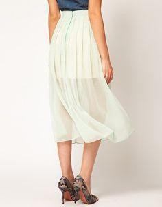 Midi Skirt With Pleats | ASOS
