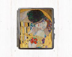 Gustav Klimt The Kiss Cigarette Case - Lovers by Klimt - Metal Cigarette Case…
