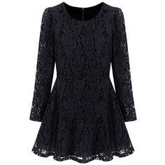 Black Lace Mini Dress (39 CAD) ❤ liked on Polyvore featuring dresses, vestidos, short lace dress, short black dresses, mini dress, short dresses и lacy black dress