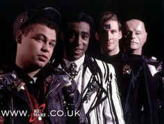 Red Dwarf crew when they were much, much younger.