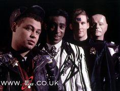 Red Dwarf crew when they were much, much younger.