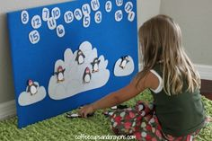 DIY Felt Board Instructions and Penguin Math Set...super easy and fun! #KneeBouncersPlay