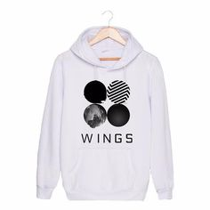 Wings Pullover(White with Wings Logo).
