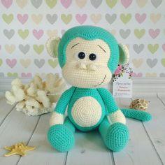 Вязаная обезьянка. Автор Виктория Митрофанова