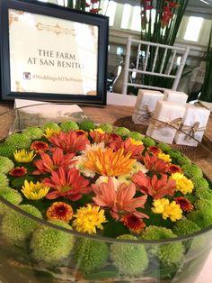 Mandala Floral Arrangement at the Weddings at The Peninsula Event June 2014