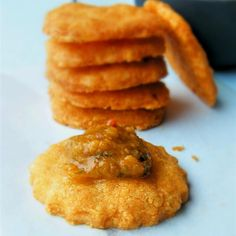 "Gluten-Free Cheese Crackers | ""A great snack to surprise your gluten-free guests with!"""