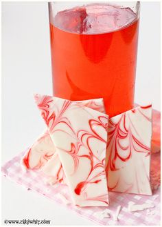 Rose syrup chocolate barks....great for gift-giving and made with only 2 ingredients in less than 10 minutes!