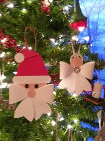 Beth's Paper Cuts: Angel and Santa from the Bow Die