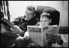 James Dean with his cousin Markie