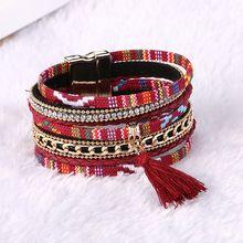 Fashionable Strap Leather Strap Style Fashion Silk Bracelet Brushed Fascinating Women Bracelet Bohemia Colorful Bracelet (China (Mainland))