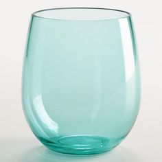 One of my favorite discoveries at WorldMarket.com: Aqua Acrylic Stemless Wine Glasses, Set of 4