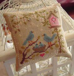 Pretty little bird cross-stitch.
