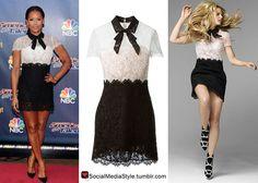Mel B vs Jennifer Morrison: Who Wore It Better?  Buy their black and white lace dress, here!