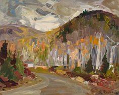 Rene Richard - Landscape 16 x 20 Oil on board Canadian Painters, Objet D'art, Sculpture, Oil, Landscape, Board, Pottery, Landscapes, Objects