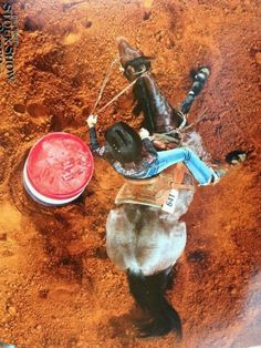 Barrel racing shot, this is a neat angle