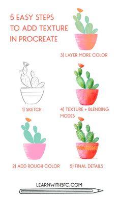 Layering Color and Texture in Procreate   Illustrator tutorials, Digital art tutorial