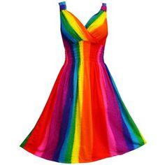 Rainbow dresses. - Polyvore
