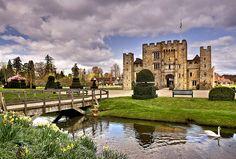 Hever Castle, childhood home of Anne Boleyn, in Edenbridge, Kent