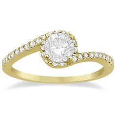 Beautiful Engagement Rings Yellow Gold Twist 39