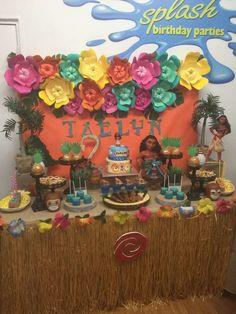 Taelyn' Moana Birthday Party | CatchMyParty.com
