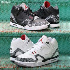 0884360c8fe62b Nike Air Tech Challenge Air Jordan 3 Custom Jordan 3 White Cement, Black  Cement,