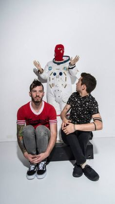 Twenty One Pilots...check these guys out.they're pretty rad.i fell in love from the first song i heard. <3